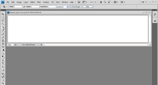 новый документ фотошоп